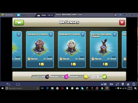 BEST CLASH OF CLANS HACKED VERSION FOR PC AND BLUESTACKS OR FOR ANY PC ANDROID EMULATOR