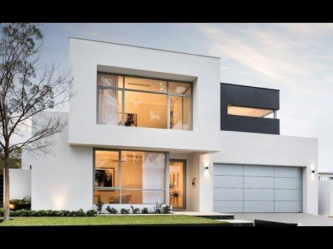 2 dise os de casas modernas de dos pisos youtube for Planos para casas de dos pisos modernas