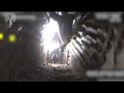 Hezbollah operatives inside the cross-border attack tunnel