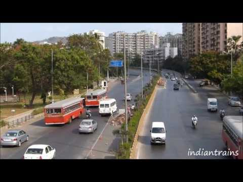 travel india@ mumbai road traffic near beautiful powai lake mumbai maharashtra india