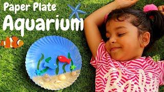 DIY Aquarium   Paper Plate Aquarium   Aquarium Craft   Paper Plate Craft