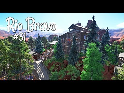 Planet Coaster (western): Rio Bravo - Ep. 31 - Frontier Island - Part 4 - Shopping area on top