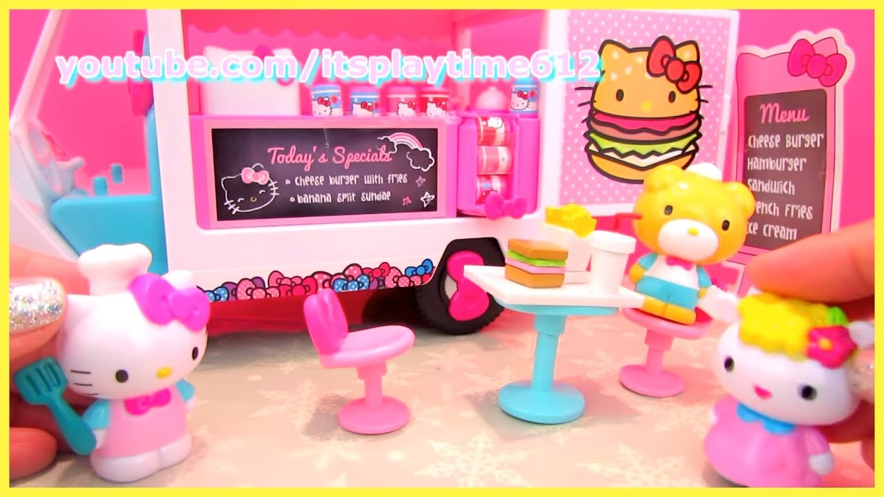 f5d0046ce8 Hello Kitty Food Truck Toys Play - YouTube