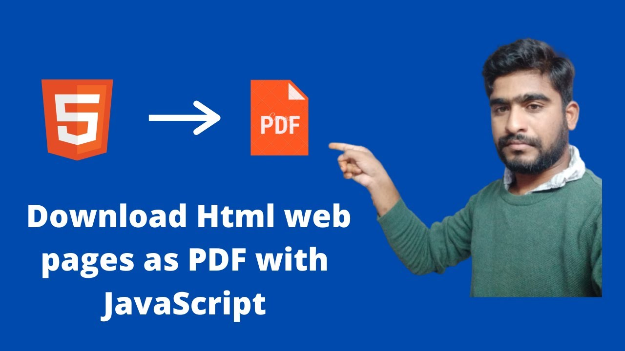 How to download web pages as PDF with JavaScript