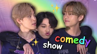 your daily dose of bts' comedy show (try not to laugh)