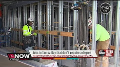 Jobs in Tampa Bay that don't require a degree