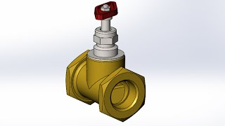 Solidworks. Сборка вентиля ( Solidworks. The valve assembly)