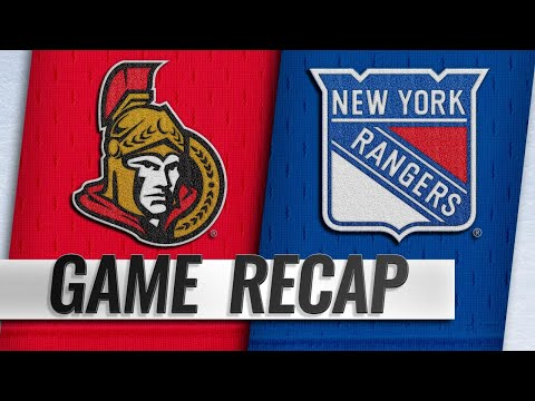 Rangers score three in the 3rd to pull away from Sens