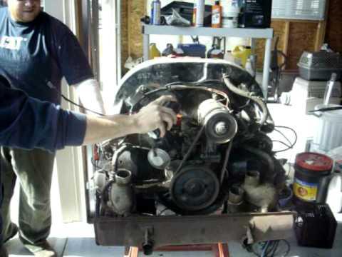 Vw beetle aircooled engine test stand 1600 single port for Motor mechanic near me