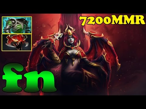 Dota 2  - fn 7200 MMR Plays Queen of Pain Vol 1 - Ranked Match Gameplay!