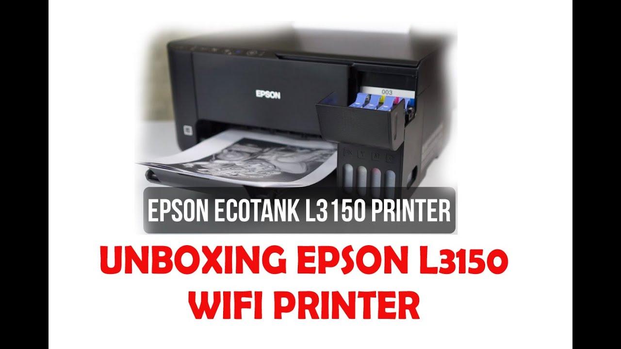 Unboxing Epson L3150 wifi printer L3110