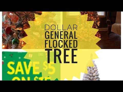 Dollar General $45 Flocked Christmas Tree | Dog Talking