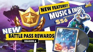 FORTNITE SS 6 - New!! Feature MUSIC & Emotes [Battle Pass Rewards] in a minute