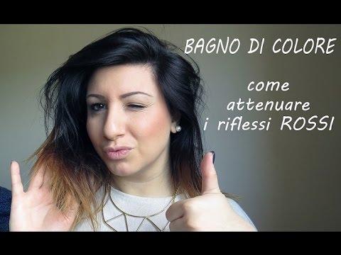 HOW TO ♥ Hair ♥ Eliminare i RIFLESSI ROSSI con il BAGNO DI COLORE ...