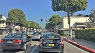 Driving Downtown - West Los Angeles 4K - USA