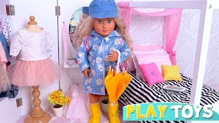 Our Generation Doll After School Routine in the Doll Bedroom Toys! 🎀