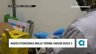 RIBUAN TENAGA KESEHATAN DI KOTA BANDUNG MULAI TERIMA VAKSIN DOSIS 3