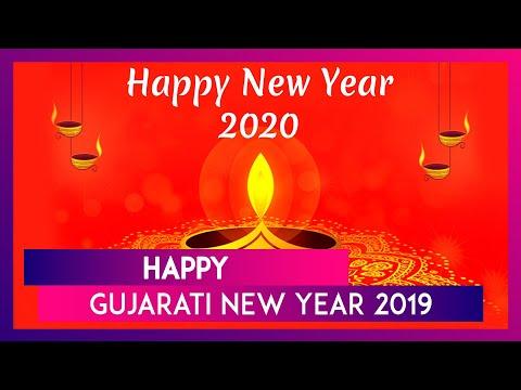 happy gujarati new year 2019 images hd wallpapers for free download online wish nutan varshabhinandan with whatsapp stickers and vikram samvat 2076 greetings latestly newsdog