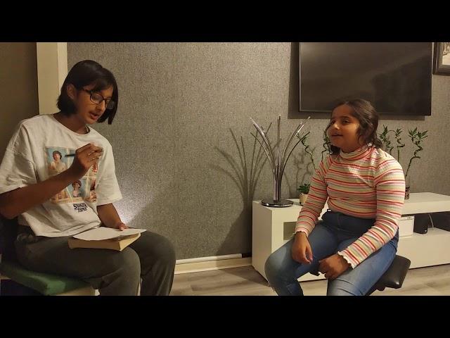 Acting Entry | Rajsee Saraf & Eshma Saraf | Glasgow, UK
