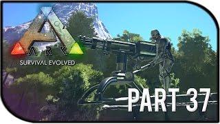 "ARK: Survival Evolved Gameplay Part 37 - ""Auto Turret Bronto Base, Argentavis Mystery!"" (Season 2)"