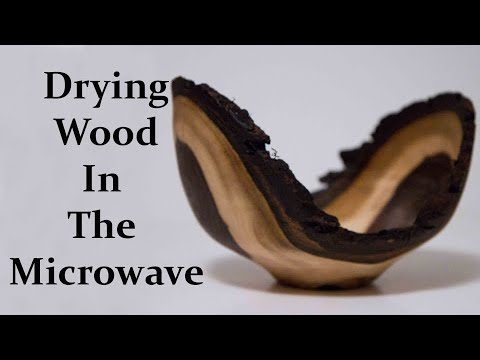 Woodturning / Walnut Bowl Dried In The Microwave | Carl Jacobson