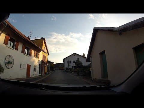 Beaumont to Le Coin (Neydens, Archamps & Collonges-sous-Salève), Haute-Savoie, France – onboard cam