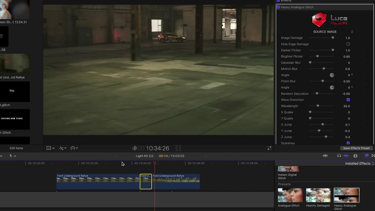 Luca Visual FX Releases Dual Glitch Plugin for Final Cut Pro X