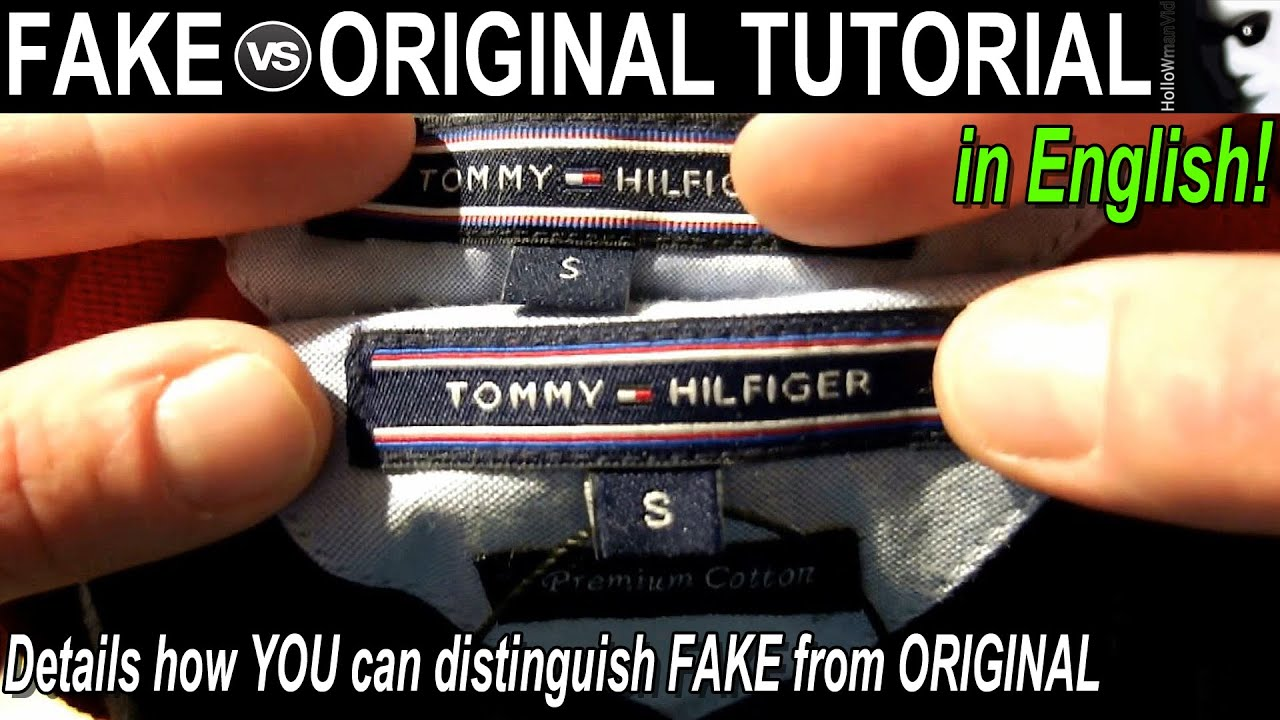 Fake Vs Original Quotthe Tommy Hilfiger Tutorialquot English
