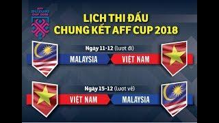 Lịch thi đấu chung kết aff cup 2018 🔴 của việt nam vs malaysia ⚽ chung kết lượt đi về AFF Cup 2018