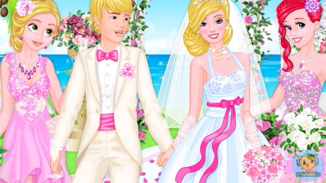 Dress up princess games - Princess At Aurora S Wedding Rapunzel Ariel Aurora Princess Dress Up Games For Kids 4jvideo