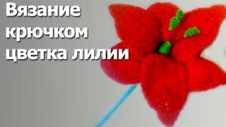 Вязание лилии крючком