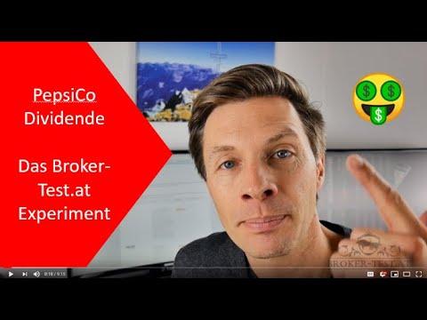 PepsiCo Dividende: Die Gebühren bei 6 Online Brokern im Broker-Test.at Experiment!