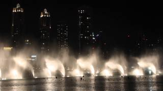 Dubai dancing fountain The best song !!!