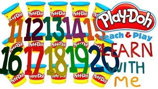 LEARN TO COUNT NUMBERS 11-20 WITH PLAY-DOH In ENGLISH l Squishy Fun