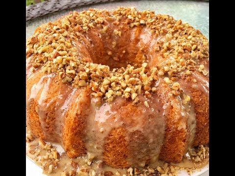 Easy Butter Pecan Cake With Pecan  Glaze