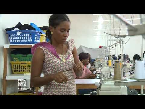 In Liberia, crafting school uniforms -- and social consciousness