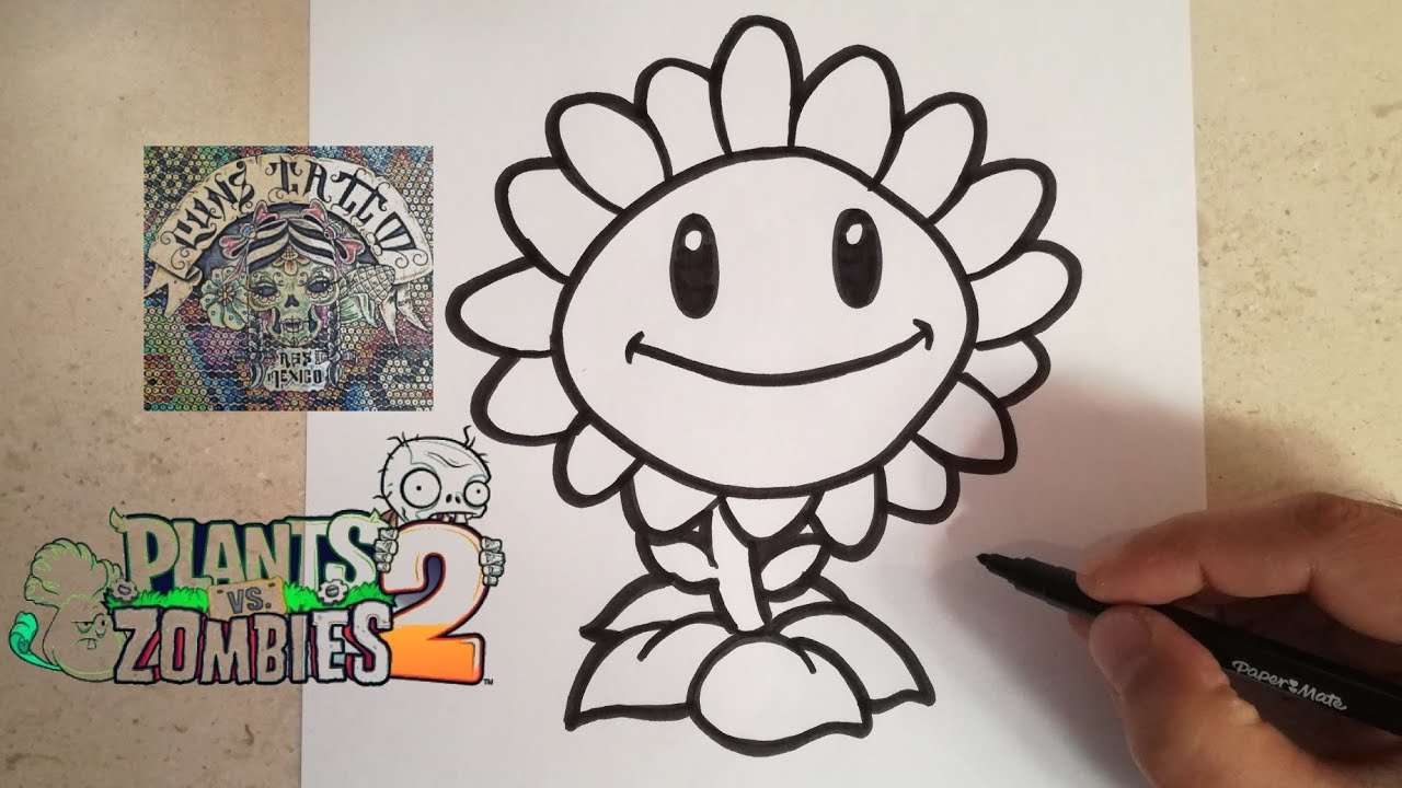 Como Dibujar Al Girasol Plantas Vs Zombies 2 How To Draw Sunflower Plants Vs Zombies 2