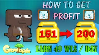 GrowTopia | How To Get Profit 49 World Locks / Day [Must Watch]