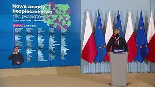 Konferencja Premiera i Ministra Zdrowia - 15 października 2020 r.
