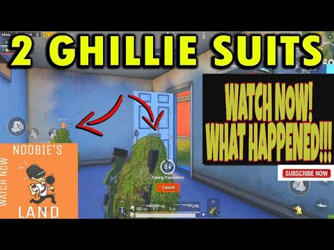 2 GHILLIE SUITS-SEE WHAT HAPPENED | PUBG MOBILE | OP MATCH GAMEPLAY | CHICKEN DINNER | GROZA IS GOD