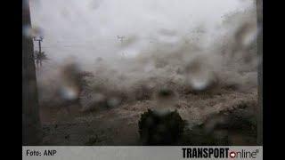 super typhoon Mangkhut in Hong Kong , Philippines and China floods, surge landslide, damage