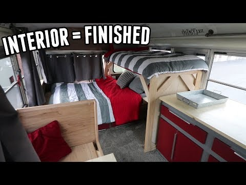 Adventure Bus Build Pt. 19 - Interior Is (almost) FINISHED!