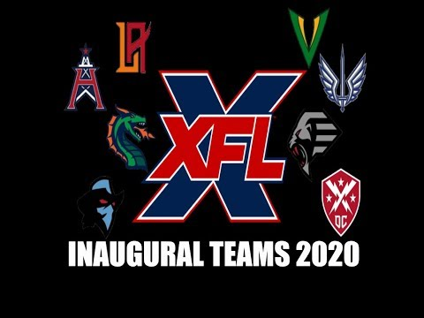 XFL - Inaugural Teams 2020
