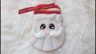 In the hoop Lined Santa Bag -  Design by Kreative Kiwi