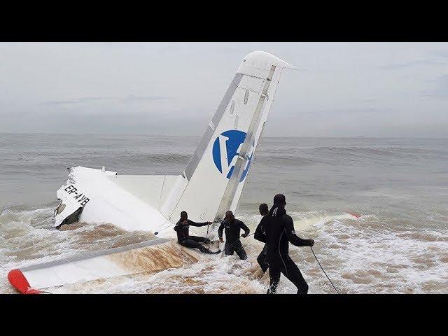PRIMERAS IMÁGENES del avión que se estrelló en el mar y dejó 4 muertos