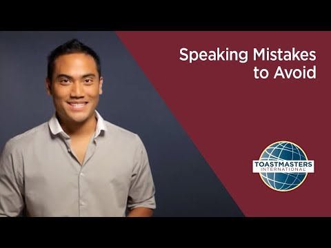 Speaking Mistakes to Avoid