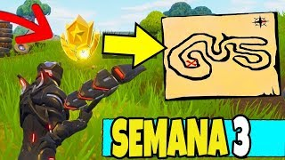 SIGA O MAPA DO TESOURO ENCONTRADO EM FONTES SALGADAS - FORTNITE TUTORIAL PT-BR ( SEMANA 3 )