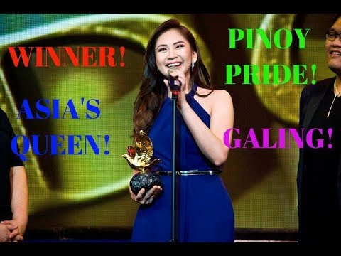 Sarah Geronimo wins at the INTERNATIONAL DAF BAMA AWARDS 2017 as BEST FILIPINO ACT held in Germany