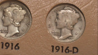 Complete Mercury Dime Collection ASMR Style