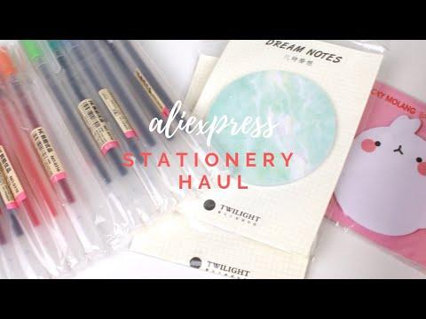 mini aliexpress stationery haul